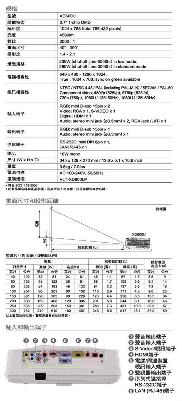 映城科技 / MITSUBISHI XD600U